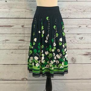 ALFANI Knee Length Floral Pleated Skirt